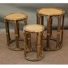 Rattan Stacking / Nesting End Tables