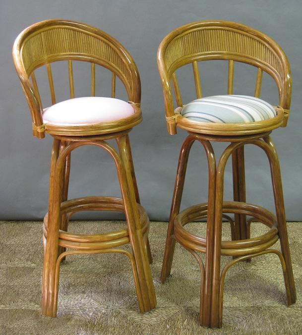 Rattan Swivel Counter Stool