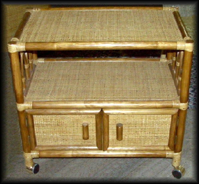 Rattan and Wicker Aruba TV Cart