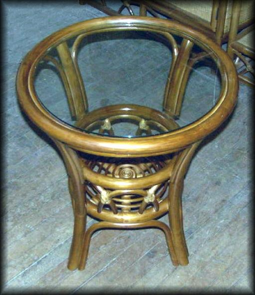 Aruba Round Rattan End Table