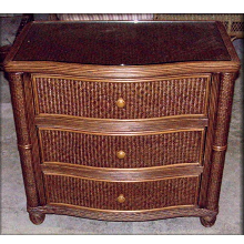 Bombay Rattan Wicker 3 Drawer Dresser