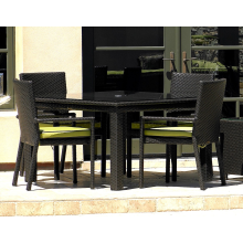 Cabo Outdoor Wicker 5 Piece Dining Set
