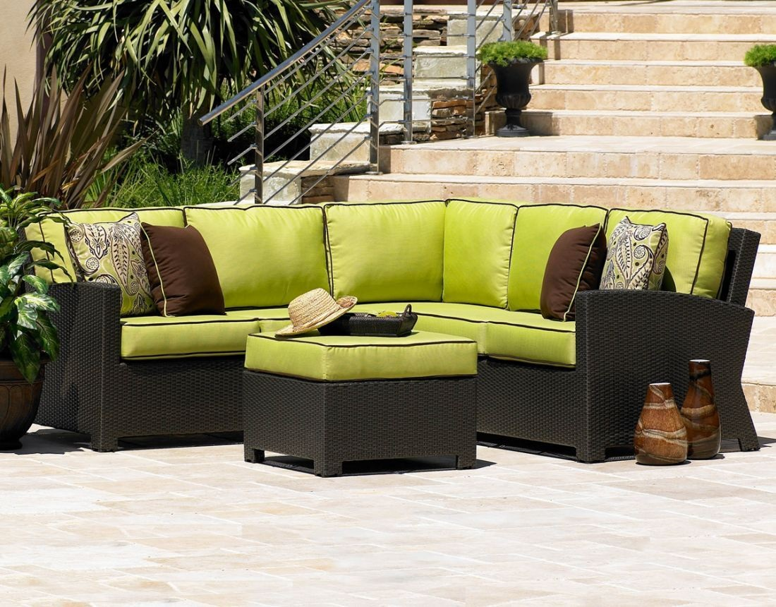 Etonnant Cabo 5 Piece Sectional Outdoor Wicker Sofa Set 1