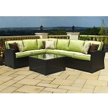 Cabo 5 Piece Sectional Outdoor Wicker Sofa Set