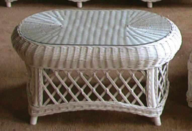 Cape Cod Wicker Coffee Table