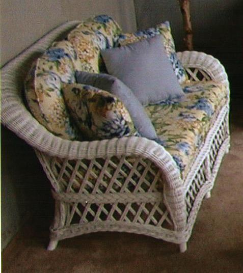 Cape Cod Deep Seating Wicker Loveseat