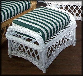 Cape Cod Wicker Ottoman