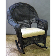 Charleston Outdoor High Back Wicker Rocker