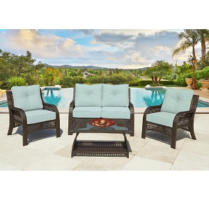 Chelsea 4 Piece Deep Seating Wicker Set