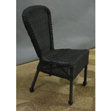 Wicker All Weather Armless Dining Chair