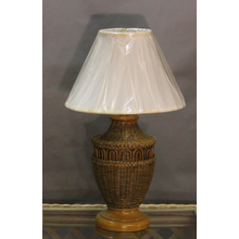 Wicker Table Lamp with Shade