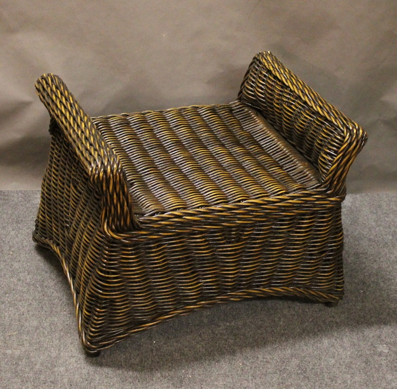 Wicker Foot Stool Ottoman