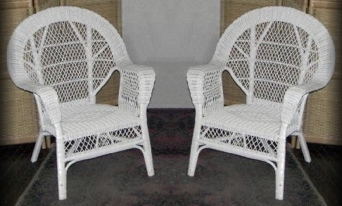 Diamond Natural Wicker Chairs Set of 2