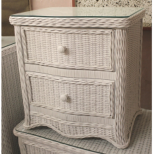 Florentine 2 Drawer Wicker Nightstand