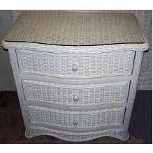 Florentine 3 Drawer Wicker Chest