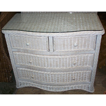 Florentine 4 Drawer Split Wicker Dresser