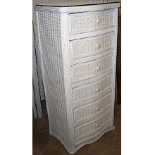 Florentine 6 Drawer Wicker Lingerie Dresser