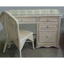 Florentine Wicker Desk and Chair Set