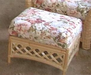 Grand Cayman Wicker and Rattan Ottoman