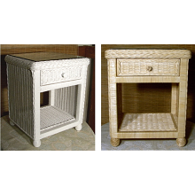 Hampton Bay Wicker Nightstand 1 Drawer