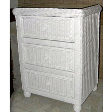 Hampton Bay Wicker Dresser 3 Drawer Chest