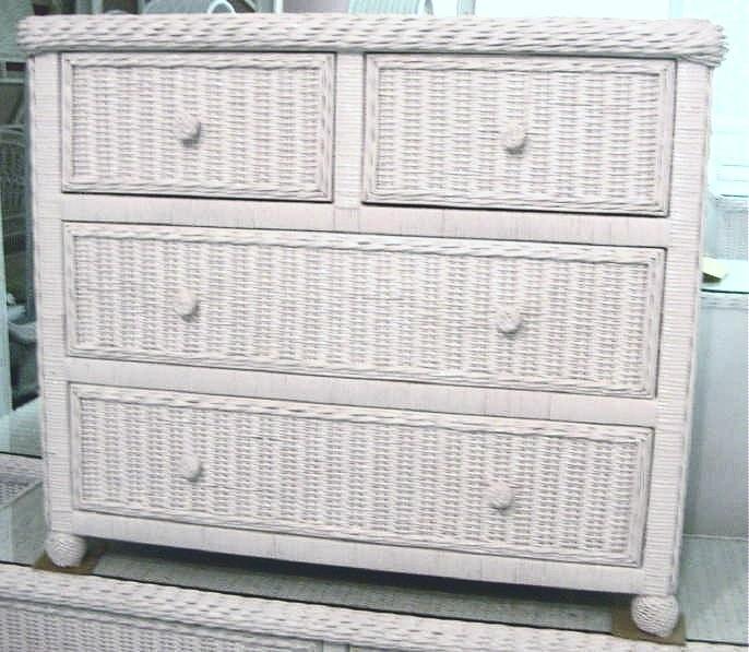 Hampton Bay Wicker Dresser 4 Drawer Split All About Wicker
