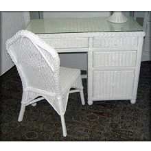 Hampton Bay Wicker Desk and Chair Set