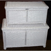 Natural Wicker Storage Trunk - Large<br><small>White, Honey, Whitewash, Dark Stain</small>