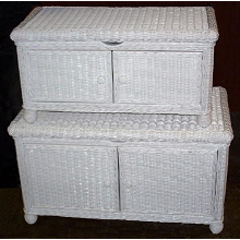 Natural Wicker Storage Trunk<br><small>White, Honey, Whitewash, Dark Stain</small>