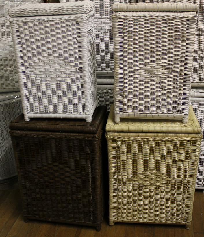 Natural Wicker Rectangular Hamper - Large