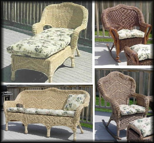 Wicker Sofas, Chairs, Rockers