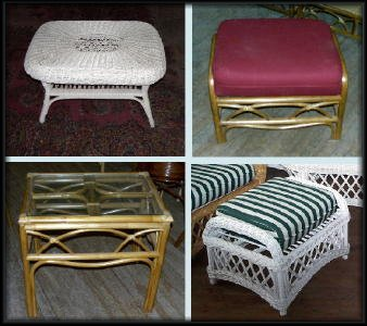 Wicker Tables & Ottomans