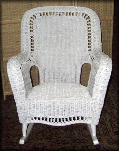 Jumbo High Back Natural Wicker Rocker