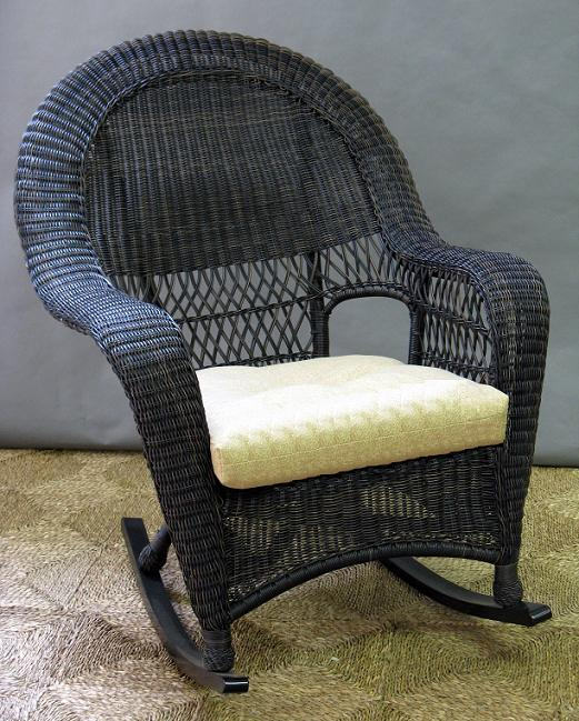 Charleston Outdoor High Back Wicker Rocker All About Wicker
