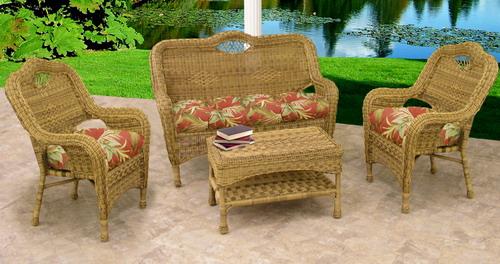 Charming Savannah 4 Piece Wicker Furniture Set 1