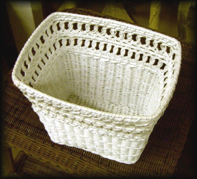 Natural Wicker Waste Basket - Rectangular