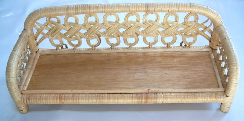 Loveknot Natural Wicker Wall Shelf - Available in White or Honey