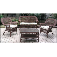 All Weather Mackinac 4 Piece Wicker Seating Set