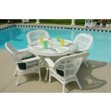 Mackinac 5 Piece Outdoor Wicker Dining Set