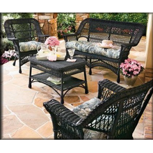 All Weather Mackinac Wicker Set with High Back Rocker