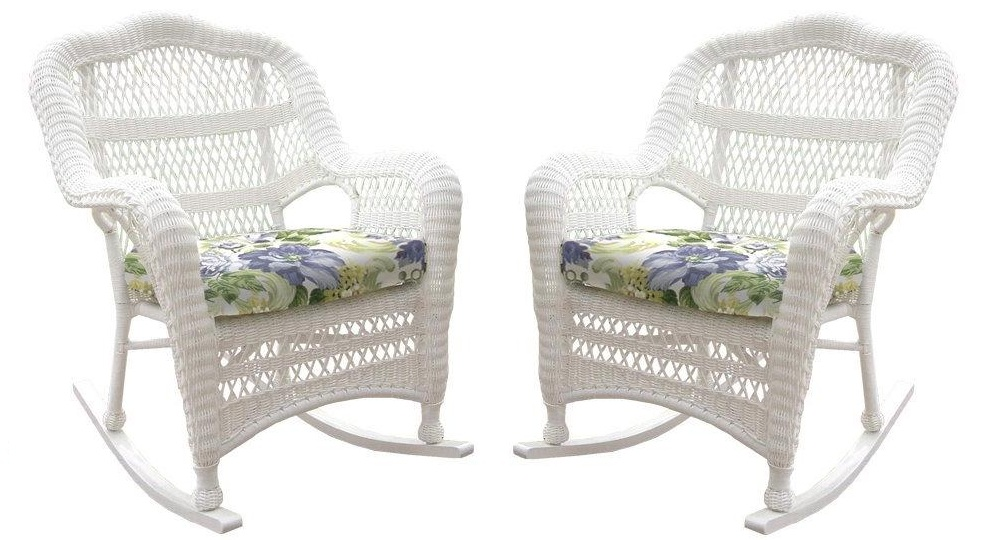 Nantucket Outdoor Wicker Rockers - Set of 2
