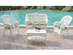 Nantucket 4 Piece Outdoor Wicker Seating Set