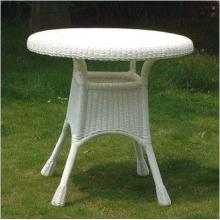 30 Inch All Weather Outdoor Wicker Dining Table