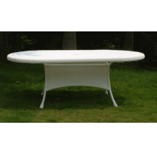 "84"" x 42"" Wicker All Weather Dining Table"