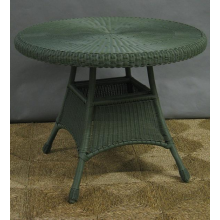 "42"" All Weather Wicker Dining Table"
