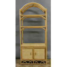 Rattan and Wicker Etagere Entertainment TV Center w/Doors - Available in 3 Colors