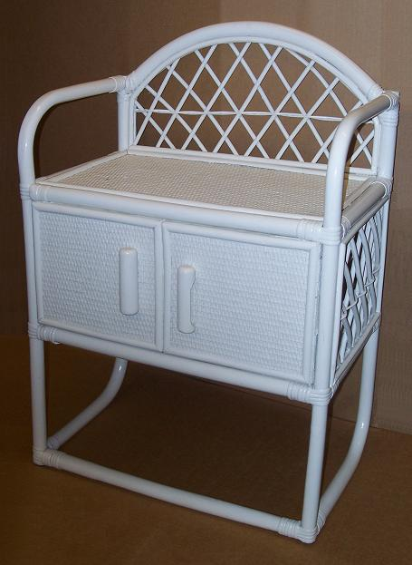 Rattan and Wicker Shelf with Towel Bar