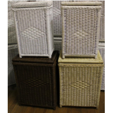Natural Wicker Rectangular Hamper - Small