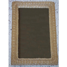 Rectangular Wicker Framed Mirror - Large