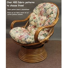 Rattan Swivel Rocker Cushion